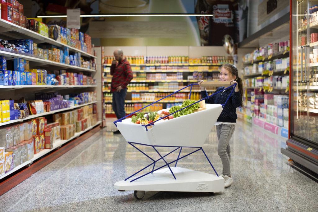 Ford Self Braking Trolley / Shopping Cart